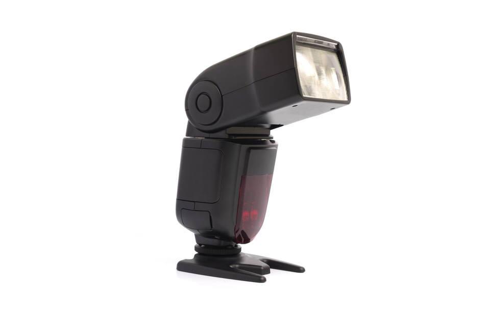 external camera flash isolated on white background